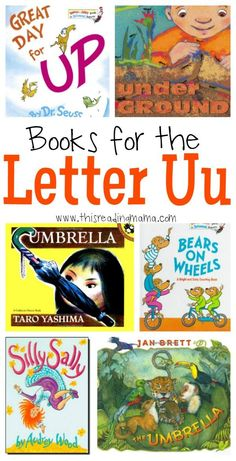 Books for the Letter U - Compiled by This Reading Mama