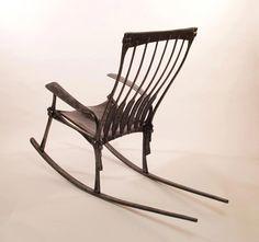 Brett Moten/ Tim Cisneros, forged rocking chair
