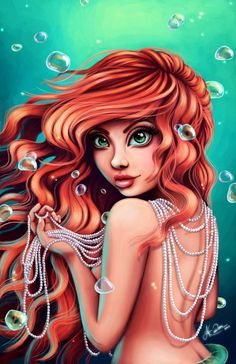 Submitting my painting of Ariel for the Train Your Brain Contest. Disney Fan Art, Disney Love, Disney Style, Teal Highlights, Mermaid Pictures, Princess Art, Mermaid Art, Mermaid Disney, Ariel The Little Mermaid