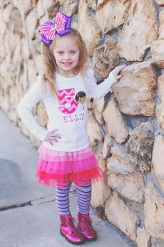 Doc McStuffins inspired personalized birthday top. Pick your number on Etsy, $23.00