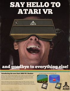 haven't we atari ! Retro Ads, Vintage Advertisements, Vintage Ads, Video Game Decor, Video Game Art, Nintendo, Old Technology, Vintage Videos, Retro Video Games