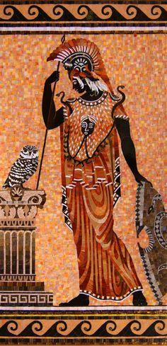 мозаичное панно Афина