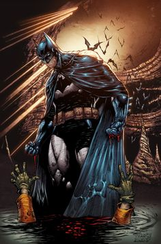 My fav comics character: Batman! Awesome lines by the talented duo of ardian-syaf (pencils) and PradoInkworks (inks) of course, colors by me. Hope you all enjoy as much I enjoyed coloring this! Ori...