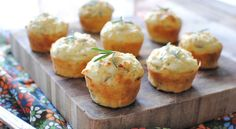 Savory Mini Muffins with Goat Cheese, Red Onion and Rosemary | Taste for Adventure - Unusual, Unique & Downright Awesome Recipes