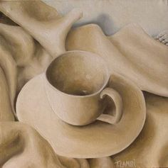 Buy Solitary Teacup, Oil painting by Trisha  Lambi on Artfinder. Discover thousands of other original paintings, prints, sculptures and photography from independent artists.