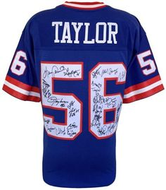 1986 New York Giants Team Signed Replica Taylor M&N Jersey JSA 26 Signatures