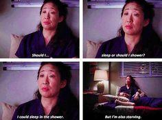 This always seems to be my dilemma lol Cristina - Grey's Anatomy. Grey's Anatomy, Anatomy Humor, Camp Counselor, Youre My Person, Christina Ricci, Oui Oui, Nurse Life, Virginia Beach, How I Feel