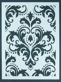 """""""Damask"""" 9 """" x 12"""" by Michelle Ward (that's me!) for Stencil Girl Products"""