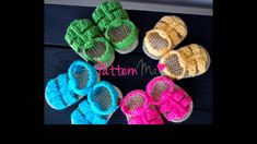 easy crochet baby sandals free patterns