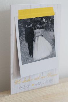 Hochzeit Teil 3 - Papeterie Danksagung auf dekohochdrei.com