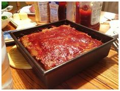 Atkins meatloaf.   For crockpot add 1/4C water to pot then add mixed meatloaf and cook for 5 to 6 hours on low.