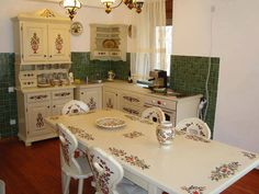 New, old kitchen in Vojvodina, Serbia Paint Furniture, Bed Furniture, Interior Decorating, Interior Design, Old Kitchen, Country Kitchen, Rustic Decor, Sweet Home, Shabby Chic