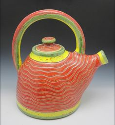 Teapot by Robert Hughes of Kiote Clay Pottery