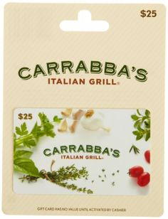 Carrabbas Italian Grill Gift Card 25 >>> Want additional info? Click on the image.