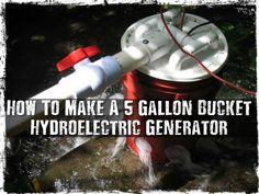 How To Make A 5 Gallon Bucket Hydroelectric Generator, diy, survival, shtf… Camping Survival, Survival Prepping, Survival Skills, Survival Hacks, Survival Shelter, Urban Survival, Outdoor Survival, 5 Gallon Buckets, Five Gallon Bucket