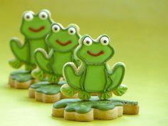 Cute! #frog #cookies