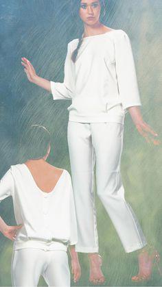 www.miaandgia.com/sklep/biale-spodnium  #biel, #trendy na jesień 2016, #fw1617 #totalwhitelook #women's #fall #shopping #bluzka #spodnie