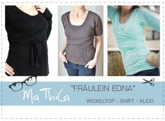 "Wickelkleid Top Shirt ""Fräulein EDNA"" E-Book von MaThila E-Books auf DaWanda.com"