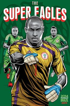 Nigeria, Afiches fútbol Copa Mundial Brasil 2014 / World Cup posters by Cristiano Siqueira