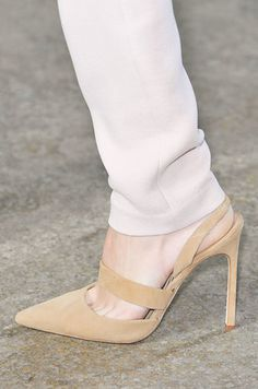 aa7fd288d40 Pointed toes and high stiletto heels were still the mark of a great power  pump. Spring iterations come with ankle straps