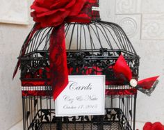 Large Birdcage Wedding Card Holder / Wedding Card Box by ThoseDays Victorian Wedding Themes, Gothic Wedding, Rose Wedding, Diy Wedding, Birdcage Wedding, Wedding Ideas, Fall Wedding, Horror Wedding, Wedding Stuff