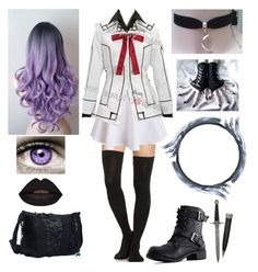 """""""Raven - Night Class uniform"""" by shadow-cheshire ❤ liked on Polyvore featuring CO, KURO, women's clothing, women's fashion, women, female, woman, misses and juniors"""