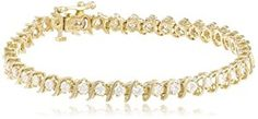 "IGI Certified 18k Yellow Gold S-Link Diamond Tennis Bracelet (3.0 cttw, H-I Color, SI2-I1 Clarity), 7""  http://electmejewellery.com/jewelry/bracelets/igi-certified-18k-yellow-gold-slink-diamond-tennis-bracelet-30-cttw-hi-color-si2i1-clarity-7-com/"