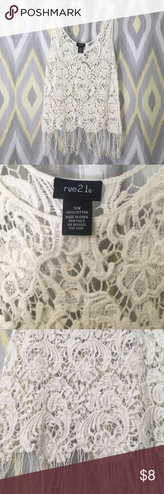 Rue 21 lace tank Great condition!! Rue 21 Tops Tank Tops