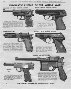 world war 1 weapons - Google Search