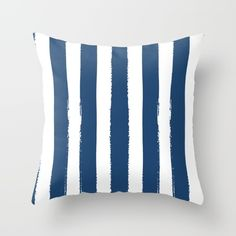 Hamptons Collection (Navy Blue & White) Throw Pillow by Home & Co - Cover x with pillow insert - Indoor Pillow White Throws, White Throw Pillows, Couch Pillows, Down Pillows, Cushions, Coastal Style, Designer Throw Pillows, Pillow Design, Blue And White