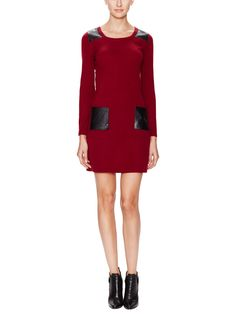 Cashmere Sweaterdress with Leather Accents by Wythe NY at Gilt