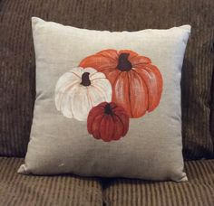 """Our pillow covers are finely textured and supremely soft. This coveris hand painted and fully customizable. 18""""x18"""" square 20""""x 20"""" square Made of pure linen"""