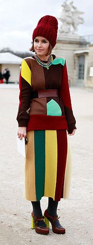 "Described as ""THE RISK TAKER: Miroslava Duma Fashion Consultant & Founder of Buro24/7"" Risky indeed!"