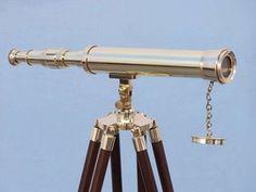 """Brass Harbor Master Telescope 42"""", ST-0128 Brass, Floor Standing Telescopes"""