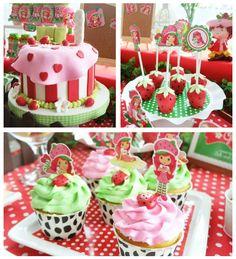 Strawberry Shortcake themed birthday party