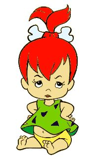 Baby Pebbles Flintstone - with much at-ti-tude! Old School Cartoons, Old Cartoons, Famous Cartoons, Free Cartoons, Classic Cartoon Characters, Classic Cartoons, Cartoon Drawings, Cartoon Art, Pebbles And Bam Bam