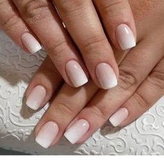 Wedding nails french manucure, french tip nails, ombre french nails, bride Ombre French Nails, French Tip Nails, Bridal Nails French, Fun Nails, Pretty Nails, Nails Ideias, Natural Wedding Nails, Simple Wedding Nails, Nails Kylie Jenner