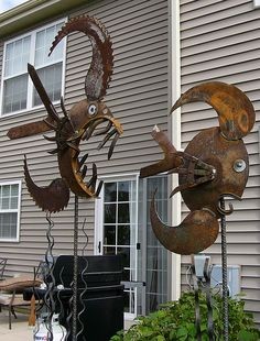 One Of Our Sculptures ~~ by walldancers, via Flickr....@Kelli Hebert Colbert... for our next mural?