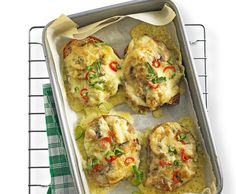 Käseschnitten mit Pilzen und Frühlingszwiebeln - Rezept - Saisonküche
