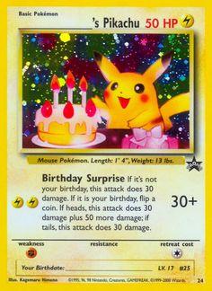 Pokémon Happy Birthday Pikachu 1 Thunder Bolt My Pokemon Card Pikachu Pikachu, Pokemon Sammelkarten, Pokemon Online, First Pokemon, Happy Birthday Pokemon, Birthday Pikachu, Birthday Photos, Birthday Cards, Pokemon Manga