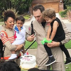 Tamera Mowry Housely and her crew are too cute as Ghostbusters for Halloween Aden and Ariah are adorable!