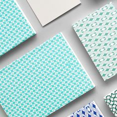 Blue tones  victor print layflat notebook in turquoise blue | diamond print pocket book in Phthalo Green  #pattern #stationery #madeinbritain by ola_studio