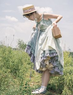 Jewelry in Sunrise -Days to Remember- Vintage Classic Lolita Jumper Dress - Kleider - Set Fashion, Lolita Fashion, Vintage Fashion, Fashion Outfits, Womens Fashion, Fashion Design, Mori Fashion, Dress Fashion, Grunge Look