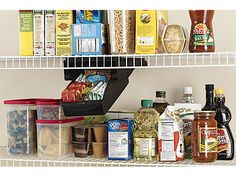 Maximize the space in your pantry by creating storage space for spices, packets and more with the Rubbermaid Small Drawer.