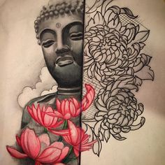 Still a work in progress but this is up for grabs, get at me people! ;) #buddha #buddhism #dharma #lotus #tattoodesign #sketch #japanesetattoo #tattoosleeve #denver #colorado #colortattoo