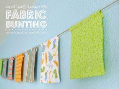 Adjustable Fabric Bunting