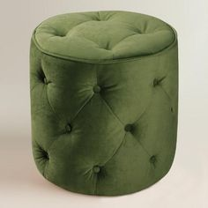 Our Tufted Velvet Ottoman offers a plush place to put your feet up for total relaxation - in absolute style! Inspired by antique tufted furniture, this sturdy velvet-covered creation with piping detail also works double duty as extra seating for guests. A great vintage look for less!
