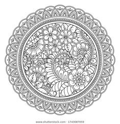 Find Circular Pattern Form Mandala Flower Henna stock images in HD and millions of other royalty-free stock photos, illustrations and vectors in the Shutterstock collection. Thousands of new, high-quality pictures added every day. Flower Henna, Flower Mandala, Mandala Art, Coloring Book Pages, Coloring Sheets, Decorative Borders, Circular Pattern, Pencil Drawings, Vectors