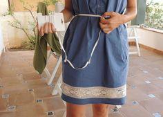 DIY Tutorial Alargar vestido con cinta entredos