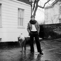 Paul McCartney with his sheepdog Martha. In 1997 McCartney confirmed that Martha the dog had been the inspiration behind the song Martha My Dear. This is Paul and Martha after she had been playing in the mud in Beatles Love, Les Beatles, Beatles Band, Martha My Dear, Liverpool, Linda Mccartney, Paul Mccartney House, John Wood, Sir Paul
